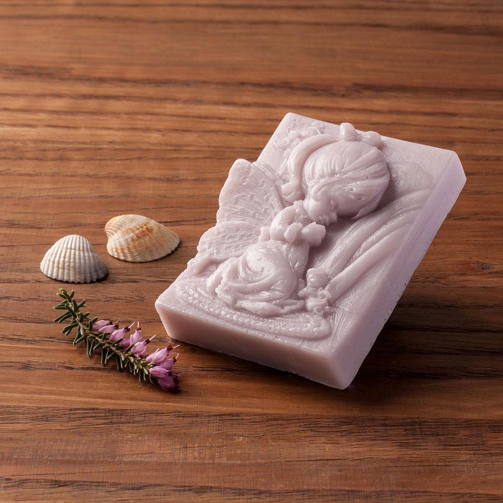 Levandulové mýdlo s kozím mlékem nebo bambuckým máslem (anděl holka) - Levandulová relaxace, 70 g