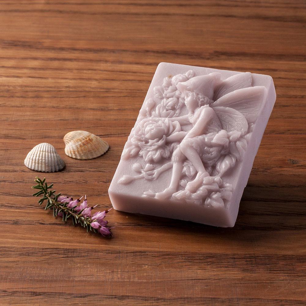 Levandulové mýdlo s kozím mlékem nebo bambuckým máslem (skřítek) - Levandulová relaxace, 80 g