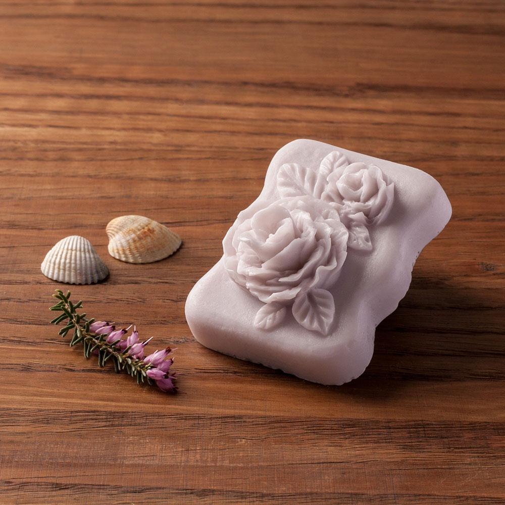Levandulové mýdlo s kozím mlékem nebo bambuckým máslem (růže) - Levandulová relaxace, 70 g