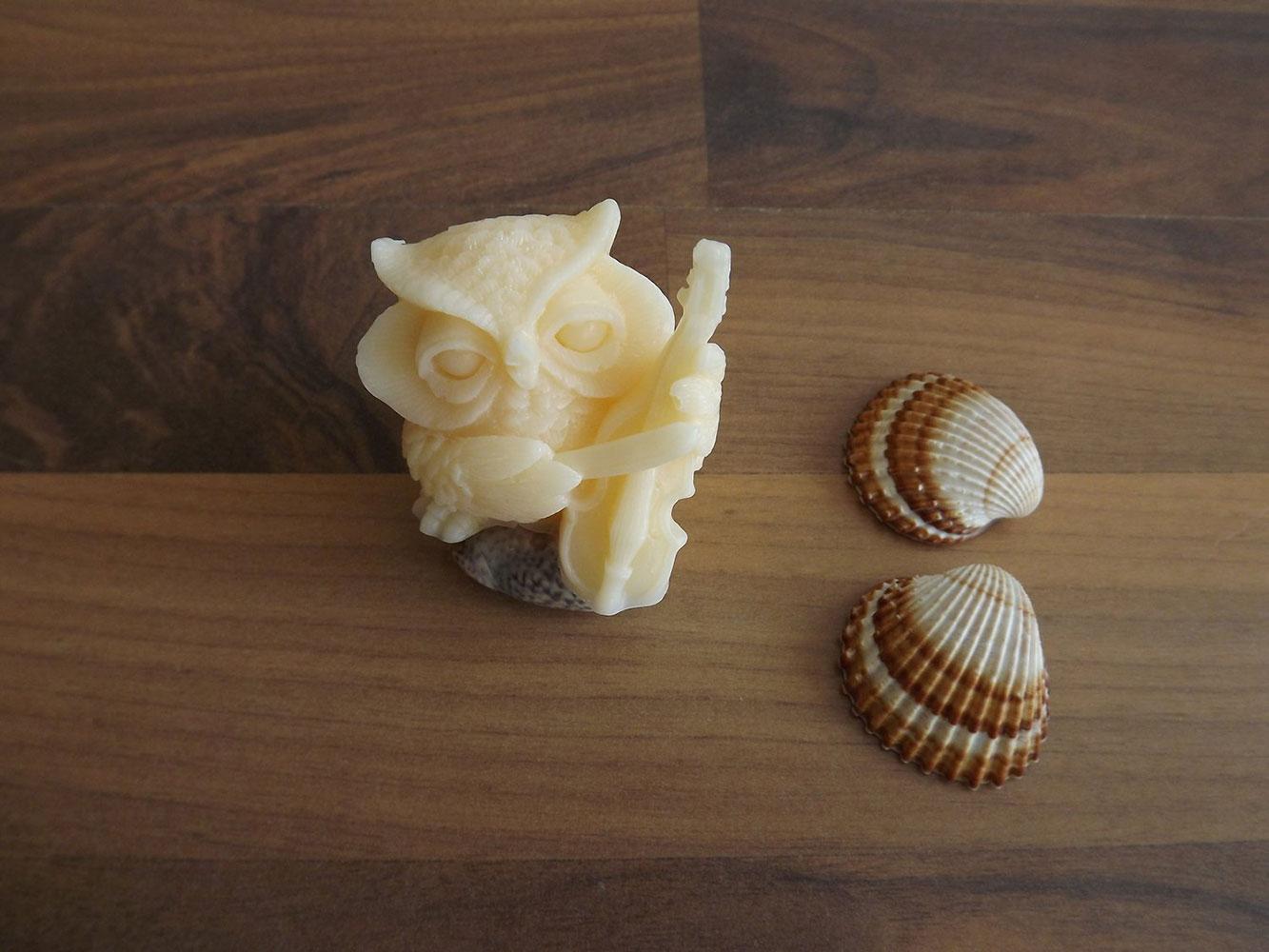 Glycerinové mýdlo s vůní jasmínu s kozím mlékem nebo bambuckým máslem ( sova ) - Šťastná mysl, 50 g